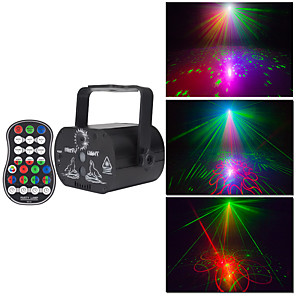 cheap Stage Lights-1pc 9 W 650-1250 lm 98 LED Beads Remote Control / RC Easy Install New Design LED Stage Light / Spot Light RGB 100-240 V Commercial Living Room / Dining Room