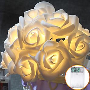 cheap LED String Lights-3M 30led AA Battery LED Rose Christmas Lights Holiday String Lights Valentine Wedding Decoration Flower Bulbs LED Lamp