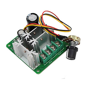 cheap Motherboards-15A 6V-90V Pulse Width Modulator PWM Stepless DC Motor Speed Controller
