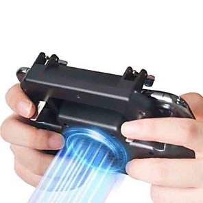 cheap Video Game Accessories-SR Pubg Controller Gamepad Pubg Mobile Trigger L1R1 Shooter Joystick Game Pad Phone Holder with Cooling Fan,Game Trigger For Android / iOS ,  Portable / New Design Game Trigger