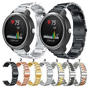 cheap Smartwatch Bands-For Garmin move3/vivomove Luxe /vivomove Style/ Venu/ vivoactive3 / Vivoactive3 music/ Vivomove /Forerunner245 645 Metal Smart Watch Band Strap Stainless Steel