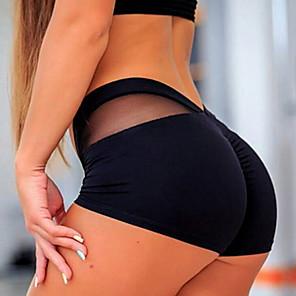 cheap Costume Wigs-Women's Sporty Legging Solid Colored Mid Waist White Black XS S M / Slim
