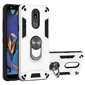 cheap Other Phone Case-Case For LG K40 / LG K50 / LG K30 2019 Two-in-one Ring Holder Back Cover Armor TPU / PC