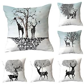 cheap Throw Pillow Covers-Set of 6 Throw Pillow Simple Classic 45*45 cm Cushion Vintage Circle Cover Sofa Home Decor Throw Pillow Case