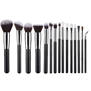 cheap Eyeshadows-Professional Makeup Brushes 15pcs Soft Lovely Comfy Aluminium Alloy 7005 / Wooden / Bamboo for Concealer & Base Powders Foundation Blush Brush Makeup Brush Lip Brush Eyeshadow Brush