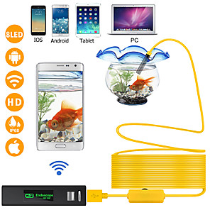 cheap Car DVD Players-WIFI Endoscope Camera 1200P 1-10M Hard Wire Wireless 8mm 8 LED Camera For Android PC IOS Endoscope
