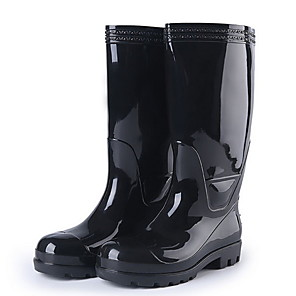 cheap Men's Boots-Men's PVC Spring & Summer Boots Waterproof Mid-Calf Boots Black / Yellow