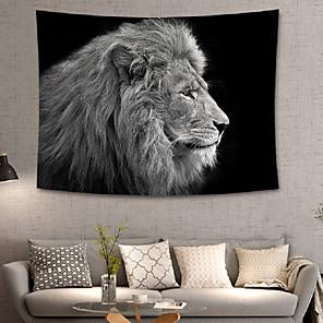 tanie Obrazy: motyw zwierzęcy-home living zwierząt gobeliny ścienne wiszące gobeliny koc ścienny wall art dekoracje ścienne czarny lew tapestry wall deco