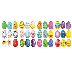 cheap Wall Stickers-Easter Rabbit / Eggs Wall Stickers Plane Wall Stickers Decorative Wall Stickers PVC Home Decoration Wall Decal Wall / Window Decoration 1pc