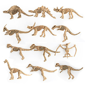 cheap Animal Action Figures-Animals Action Figure Dragon & Dinosaur Toy Dinosaur Figure Dinosaur Special Designed Gift Office Desk Toys Plastic 12 pcs Adults Children's Party Favors, Science Gift Education Toys for Kids and