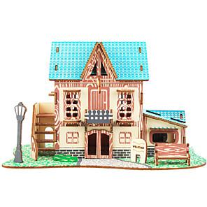 cheap 3D Puzzles-Building Blocks 3D Puzzles Jigsaw Puzzle Wooden Puzzles Educational Toy Famous buildings Chinese Architecture House DIY 1pcs Kid's Men's