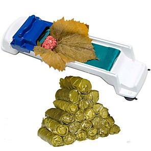 cheap novelty kitchen tools-Vegetable Meat Rolling Tool Magic Sushi Roll Maker Cabbage Plant Stuffed Grape Leaf Machine Creative Sushi Mold Tool