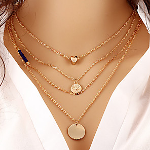 cheap Necklaces-Women's Pendant Necklace Necklace Friends European Romantic Casual / Sporty Sweet Chrome Gold 60 cm Necklace Jewelry 1pc For Street Festival