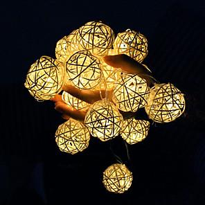 cheap LED String Lights-LED Star Light String 3cm Sepak Takraw Light Starry Bedroom Decoration Light Girl Heart Romantic Small Lantern Flashing Light