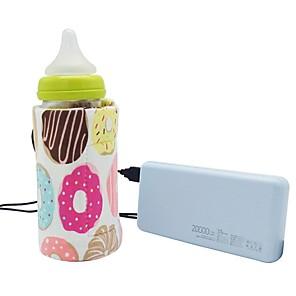 Χαμηλού Κόστους Φροντίδα μωρού-2pcs usb γάλα νερό θερμότερο ταξίδια περιπατητής μόνωση τσάντα μωρό θηλασμός θέρμανσης μπουκάλι νεογέννητο μωρό μπιμπερό τροφοδοτικά θερμότητες τυχαία χρώμα