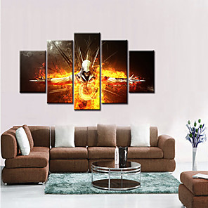 cheap Prints-5 Panels Modern Canvas Prints Artwork Pictures Decor Print Rolled  Stretched People Cartoon