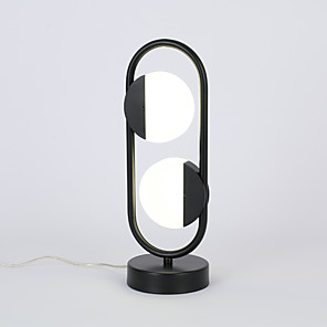 cheap Synthetic Trendy Wigs-Table Lamp / Desk Lamp LED / New Design Simple / Modern Contemporary / Nordic Style LED power supply For Living Room / Bedroom Aluminum 85-265V White / Black