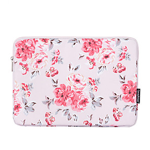 cheap Sleeves,Cases & Covers-11.6 13.3 14.1 15.6 inch Universal PU Leather Floral Print Water-resistant Shock Proof Laptop Sleeve Case Bag for Macbook/Surface/Xiaomi/HP/Dell/Samsung/Sony Etc
