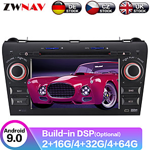 cheap Car DVD Players-ZWNAV 7inch 2din 4GB 64GB Android 9.0 Car GPS Navigation Car DVD Player Car multimedia player stereo HD radio tape recorder For Mazda 3 2003-2009