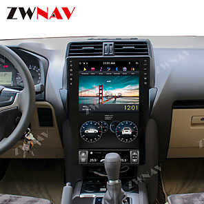 cheap Car DVD Players-ZWNAV 15.6 Inch 1din Tesla style 4GB 64GB Car DVD Player GPS Navigation Car MP5 Player Car multimedia player HD For TOYOTA Land Cruiser Prado 150 2018-2019