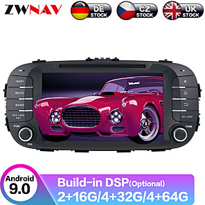 cheap Car DVD Players-ZWNAV 8inch 2din Auto stereo Android 9 4GB 64GB Car CD DVD Player Car GPS navigation Car multimedia player tape recorder For Kia SOUL 2014-2017