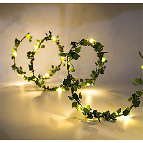 cheap LED String Lights-2m String Lights 20 LEDs SMD 0603 1pc Warm White Thanksgiving Day Christmas Waterproof Party Decorative USB Powered Batteries Powered