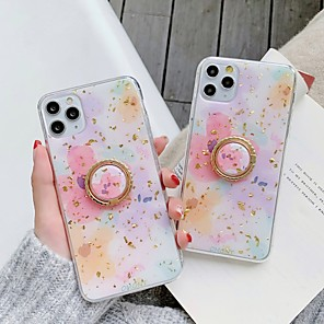 cheap iPhone Cases-Case For Apple iPhone 11 / iPhone 11 Pro / iPhone 11 Pro Max Ring Holder / Pattern / Glitter Shine Back Cover Glitter Shine / Flower TPU