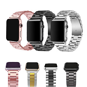 cheap Smartwatch Bands-Stainless Steel bands for Apple Watch  strap metal watch band  38 40 42 44 Bracelet Clasp series 5 4 3 2 1