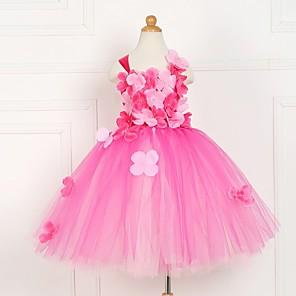 cheap Movie & TV Theme Costumes-Kids Girls' Striped Dress Blushing Pink
