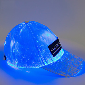 cheap LED Smart Home-Colorful Change /USB Charging/ Optical Fiber  Baseball Cap /Outdoor Glowing Cap/Oval Shape LED Hat LED Smart Light Rechargeable / Portable /Washable / Creative ON / OFF  2pcs