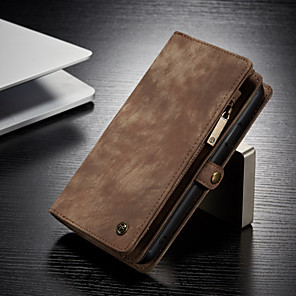 cheap iPhone Cases-CaseMe Multifunctional Luxury Business Leather Magnetic Flip Case For iPhone 11 / iPhone 11 Pro / iPhone 11 Pro Max With Wallet Card Slot Stand 2-in-1 Detachable Case Cover