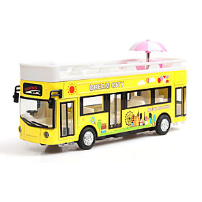 cheap Toy Cars-1:32 Toy Car Music Bus Creative Bus Creative Exquisite Parent-Child Interaction Zinc Alloy Rubber Mini Car Vehicles Toys for Party Favor or Kids Birthday Gift