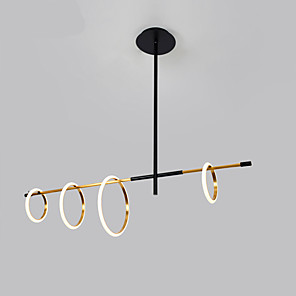 cheap Globe Design-ZHISHU 4-Light 30 cm Dimmable / Sputnik Design Chandelier Metal Circle Painted Finishes Nordic Style 110-120V / 220-240V