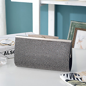 cheap Clutches & Evening Bags-Women's Crystals Alloy Evening Bag Solid Color Sillver Gray / Black / Light Gold