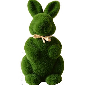 cheap Christmas Decorations-Easter bunny Decorative Objects plants, Plastic Modern Contemporary for Home Decoration Gifts 1pc