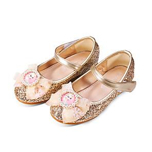 cheap Kids' Tiny Heels-Girls' Comfort / Flower Girl Shoes PU Sandals Dress Shoes Little Kids(4-7ys) / Big Kids(7years +) Rhinestone / Sparkling Glitter / Sequin Pink / Gold / Blue Fall / Winter / Party & Evening / Rubber