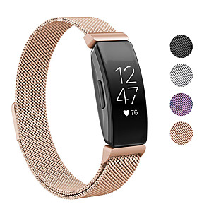cheap Smartwatch Bands-Watch Band for Fitbit Inspire HR / Fitbit Inspire Fitbit Sport Band / Milanese Loop / Modern Buckle Stainless Steel Wrist Strap