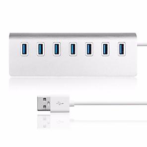 billiga USB-hubbar och omkopplare-litbest 7 port usb 3.0 nav bärbar aluminium datahub 3-fots usb 3.0 kabel bärbar aluminiumlegering nav usb 3.0 nav