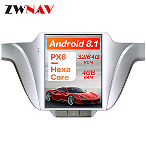 cheap Car DVD Players-ZWNAV 10.4 inch PX6 4GB 64GB Tesla style 1Din Android 8.1 Car GPS Navigation Car multimedia Player In-Dash Car DVD Player For Volkswagen Lavida 2013-2017