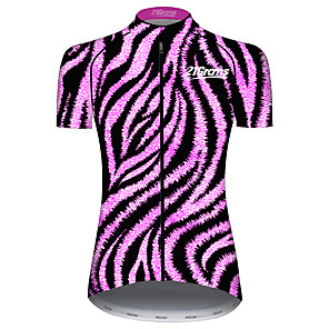 cheap Cycling Jerseys-21Grams Women's Short Sleeve Cycling Jersey Purple Stripes Geometic Bike Jersey Top Mountain Bike MTB Road Bike Cycling UV Resistant Breathable Quick Dry Sports Clothing Apparel / Stretchy / Race Fit