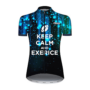 cheap Cycling Jersey & Shorts / Pants Sets-21Grams Women's Short Sleeve Cycling Jersey Black / Orange Novelty Bike Jersey Top Mountain Bike MTB Road Bike Cycling UV Resistant Breathable Quick Dry Sports Clothing Apparel / Stretchy / Race Fit