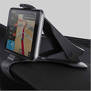 cheap Phone Mounts & Holders-Car GPS Navigation Dashboard Phone Holder for Universal Mobile Phone Clip Fold Black Car Phone Holder Stand Bracket for iPhone 7