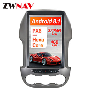 cheap Car DVD Players-ZWNAV 12.1 inch 1Din PX6 4GB 64GB Tesla style Android 8.1 Car GPS Navigation Car multimedia player In-Dash Car DVD Player For Ford Ranger / Ford F250 2011