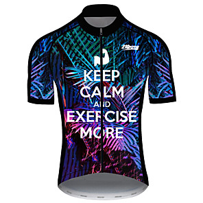 cheap Cycling Jersey & Shorts / Pants Sets-21Grams Men's Short Sleeve Cycling Jersey Spandex Polyester Black / White Novelty Bike Jersey Top Mountain Bike MTB Road Bike Cycling UV Resistant Breathable Quick Dry Sports Clothing Apparel