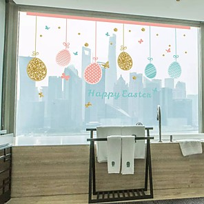 cheap Wall Stickers-Happy Eastern Wall Stickers Plane Wall Stickers Decorative Wall Stickers PVC Home Decoration Wall Decal Wall / Window Decoration 1pc