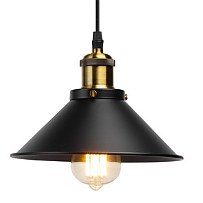 cheap Pendant Lights-22 cmRetro Industrial Pendant Light Vintage Lamp Shade Metal E26/E27 for Kitchen Coffee Bar Loft Restaurant Office