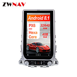 cheap Car DVD Players-ZWNAV 13.6 Inch 1din Android 8.1 Car GPS Navigation Car Multimedia player radio tape recorder Car MP5 Player For TOYOTA LAND CRUISER LC200 2016-2019