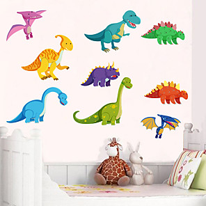 cheap Wall Stickers-Dinosaur Wall Stickers Children Room Home Decor Dinosaur Vinyl Kids Room Decal Baby Nursery Decor