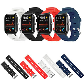 cheap Smartwatch Bands-20mm Sport Silicone Watchband Strap for Amazfit GTS Smart Watch Replace Strap