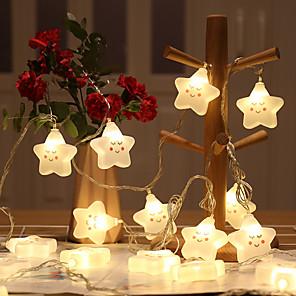 cheap LED String Lights-LED Creative New White Cloud Smile Cloud Lamp Shape Battery Light String Christmas Day Celebration Decoration